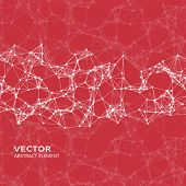 stock photo of cybernetics  - Vector design element of abstract cybernetic particles - JPG