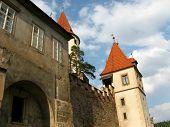 image of bohemia  - Historic medieval Krivoklat Castle in Czech Republic  - JPG