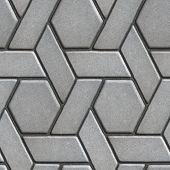 foto of slab  - Gray Paving Slabs Built of Rectangles and Rhombuses - JPG