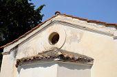stock photo of fragmentation  - Fragment of Orthodox chapel in Loutraki Greece - JPG