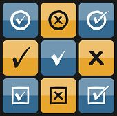 foto of confirmation  - Vector checkbox Set of hand drawn Icons - JPG