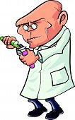 pic of mad scientist  - Cartoon scientist mixing chemicals - JPG