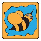 stock photo of bumble bee  - cartoon  - JPG