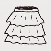 foto of mini-skirt  - Skirt Doodle - JPG