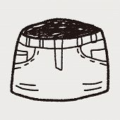 image of mini-skirt  - Skirt Doodle - JPG