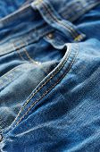 pic of denim jeans  - Blue jeans pant close up - JPG