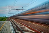 stock photo of railroad car  - Railroad travel and transportation industry business concept - JPG