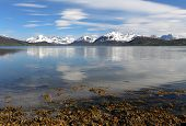 foto of tromso  - Norway fjord at spring near Tromso at day - JPG