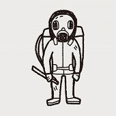 pic of gas mask  - Gas Mask Doodle - JPG
