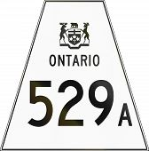 picture of trapezoid  - Canadian highway shield of Ontario highway number 529A - JPG