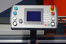 stock photo of keypad  - Machine Control Panel With Display And Keypad - JPG