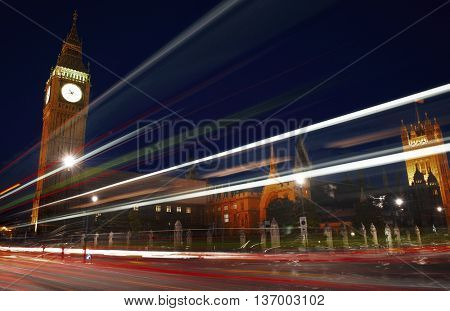 London Lights Clock Tower Motion Concept