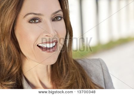 Beautiful Smiling Woman Or Businesswoman In Her Thirties