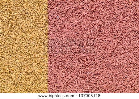 Rubber play ground floor surface covering colorful yellow and red straight edge