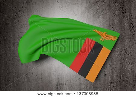 Republic Of Zambia Flag Waving