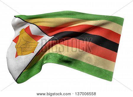 Republic Of Zimbabwe Flag Waving