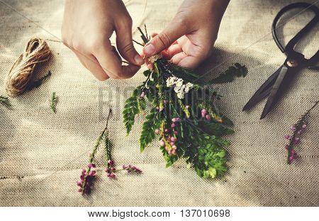 Flower Decorating Florist Hobby Recreational Pursuit Concept