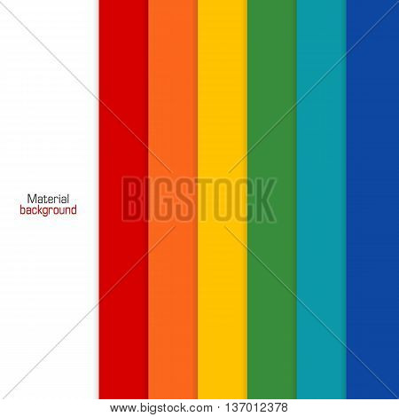 Background Unusual modern colored material design. Rainbow backdrop for web and mobile applications and sites. Vector Illustration.