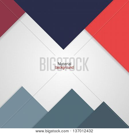 Background Unusual modern colored material design. Colorful backdrop for web and mobile applications and sites. Vector Illustration.