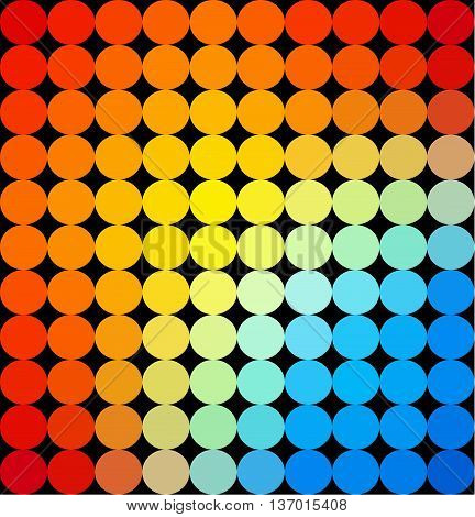 Abstract multicolor dotted background made from small dots.