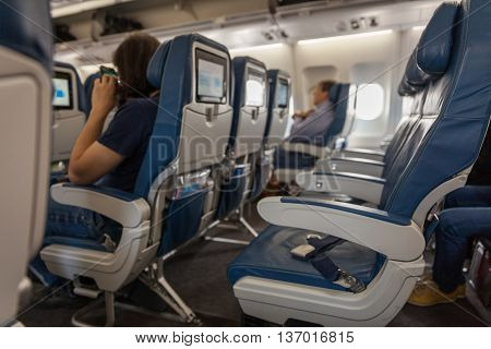 Vacancies on board the transatlantic Airbus plane