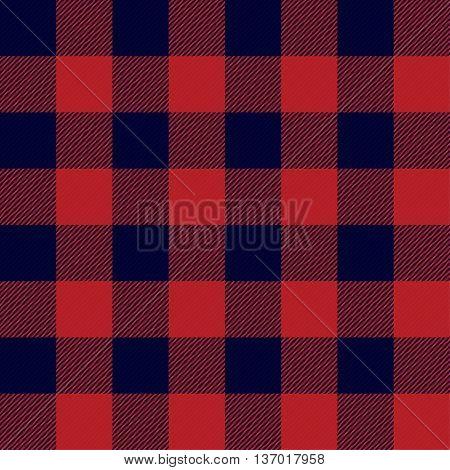 Lumberjack Plaid Seamless Pattern Vector Illustration Pattern