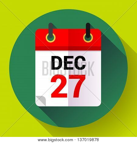 Calendar icon, vector illustration. Flat 2.0 design style