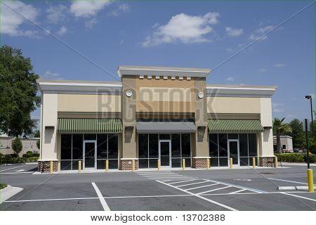 Small Beige Strip Mall