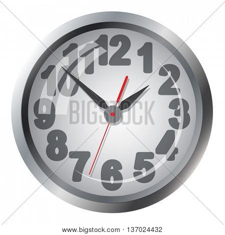 Wall mounted digital clock. illustration.