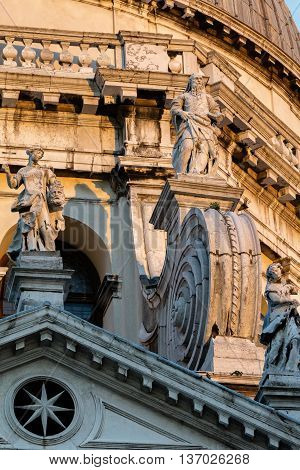 Facade Of The Santa Maria Della Salute Church In Venice