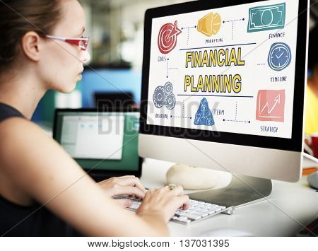 Financial Planning Banking Bookkeeping Money Concept