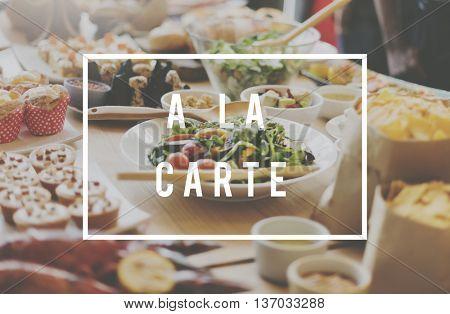 A La Carte Food Meal Concept