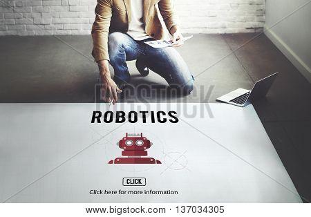 Robotics Automation Cybernetics Science Machine Concept