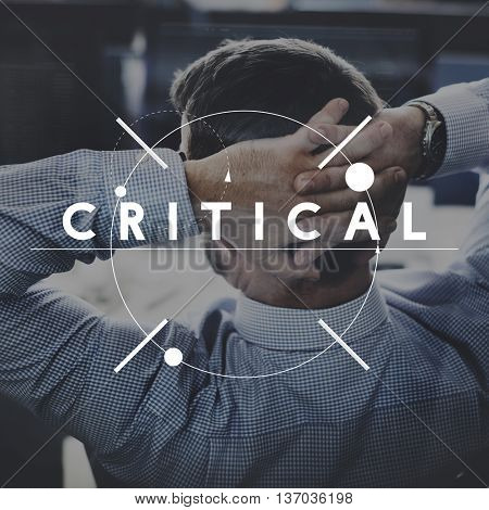 Critical Thinking Business Work Attitude Concept