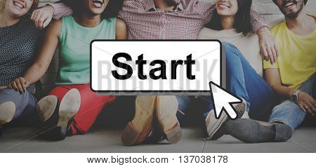 Start Starter Begin Build Launch Motivate First Concept