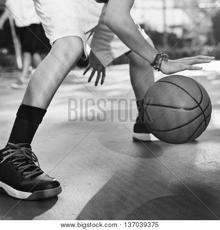 Basketball Player Sport Gaming Tactics Concept