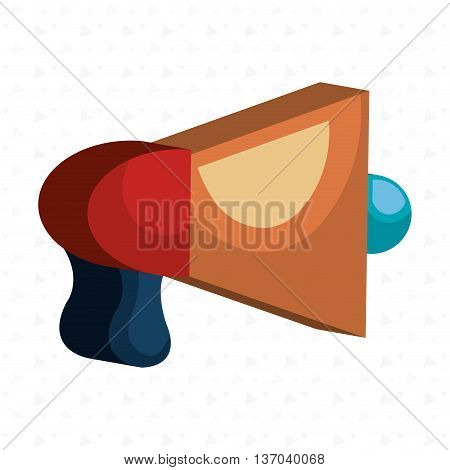 megaphone isometric isolated icon design, vector illustration  graphic