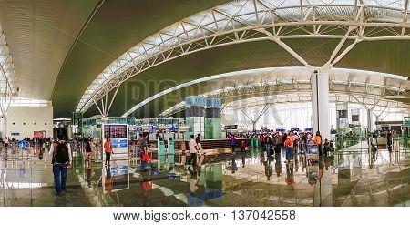 HA NOI, VIET NAM, February 15, 2016 the terminal T2, Noi Bai International Airport, Hanoi, Vietnam