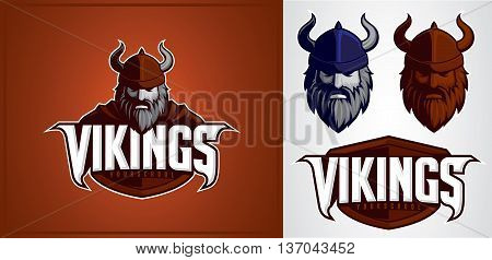 vikings mascot for logo sport team or company