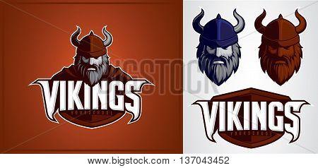 vikings mascot for logo sport team or company