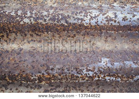 background galvanized iron have rust is brown