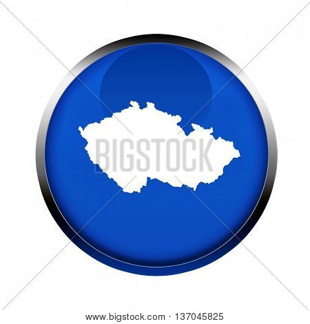 Czech Republic map button in the colors of the European Union.