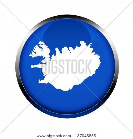 Iceland map button in the colors of the European Union.