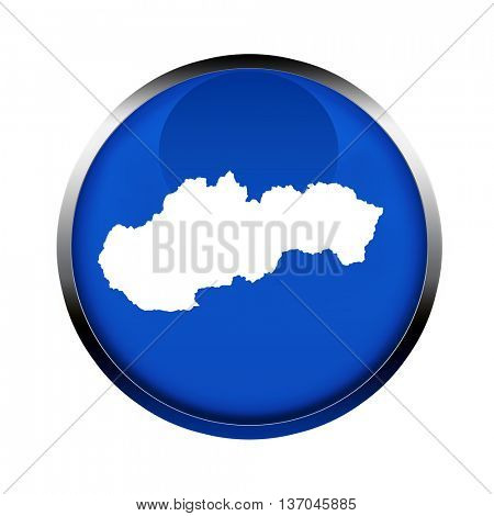 Slovakia map button in the colors of the European Union.