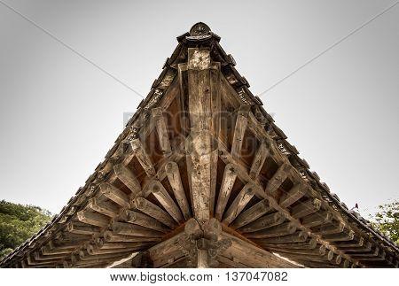 the triangle of big temple in Korea.