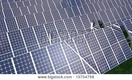 Animation presenting various solar panel in high definition