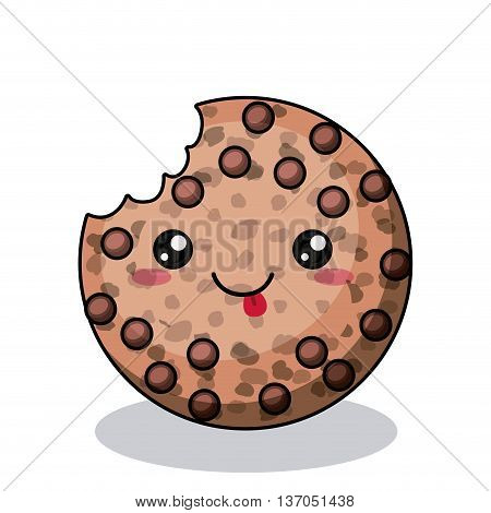 cookies character isolated icon design, vector illustration  graphic