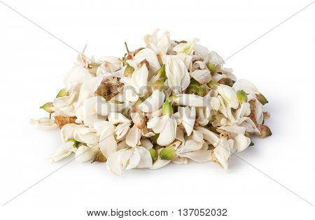 acacia flowers isolated on white background