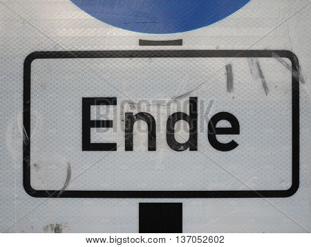 Ende Sign In Berlin