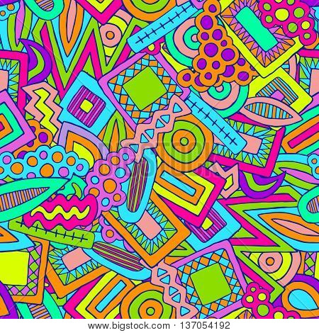 Doodle Abstract Ethnic Elements Pattern Colorful 2